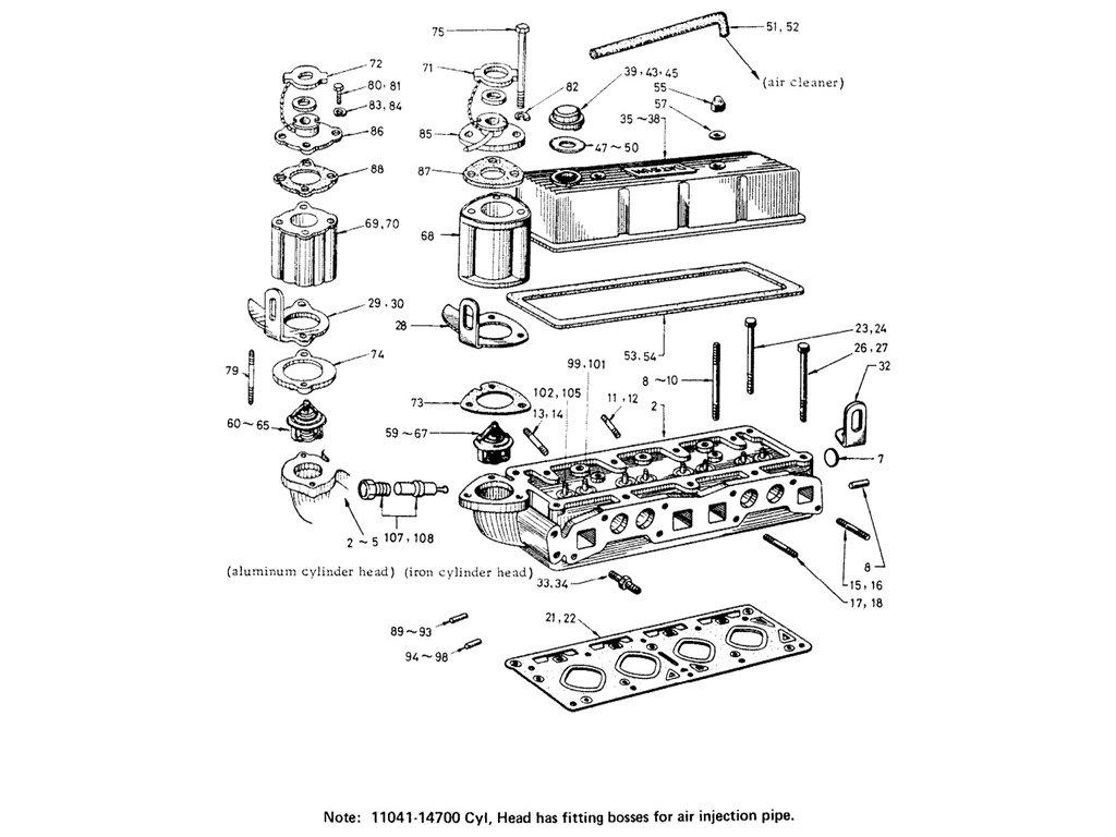 engine schematics for 1600 datsun