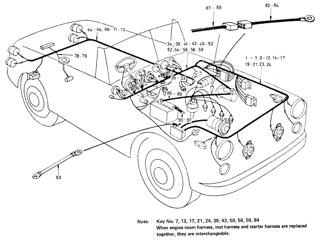 1970 datsun truck wiring harness