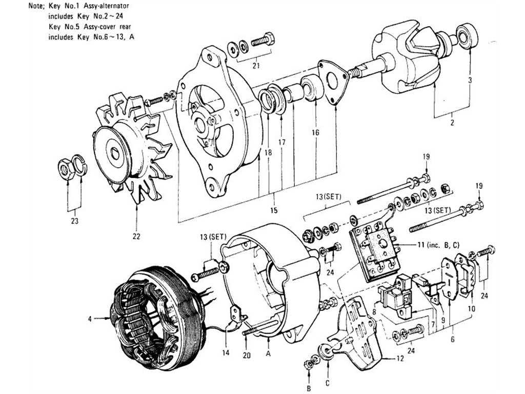 1970 datsun alternator ledningsdiagram