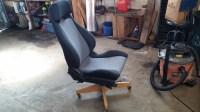 A little while ago I saw a post on car seat office chairs