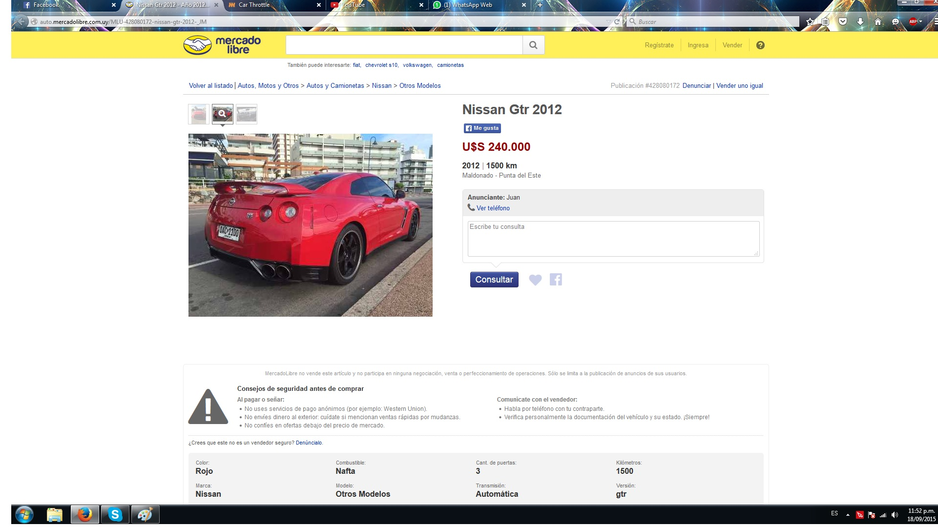 Mercado Libre Com Uy So Yes One Of The Few I Think 2 Gtrs That Came To Uruguay