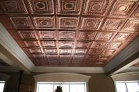 Stratford| Vinyl Ceiling Tiles| Faux Copper Ceiling Tiles