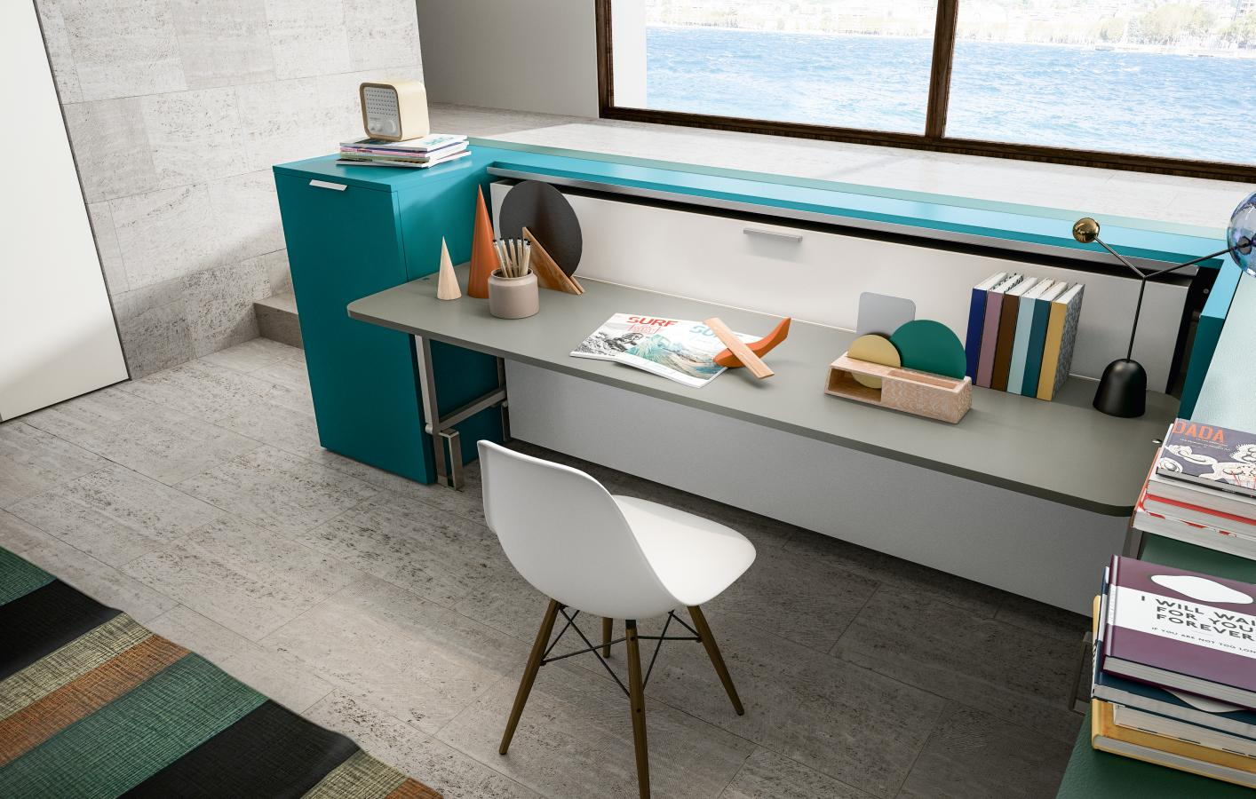 Altea 120 Sofa Transforming System For Studying Working Purposes Cabrio In Clei