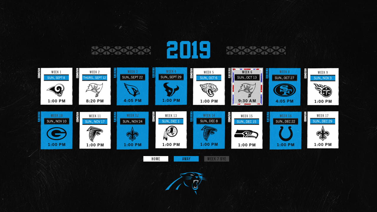 Nfl Schedule Panthers Announce 2019 Schedule