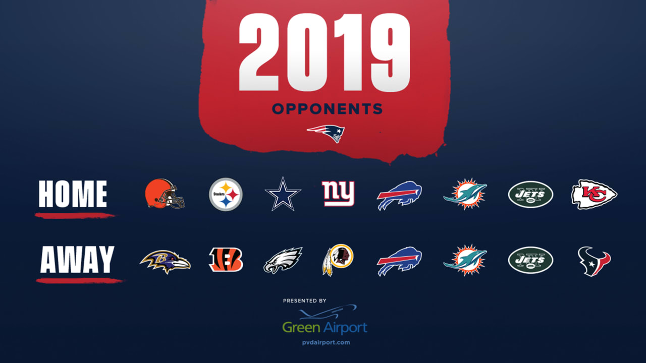 Nfl Schedule Patriots 2019 Opponents Determined