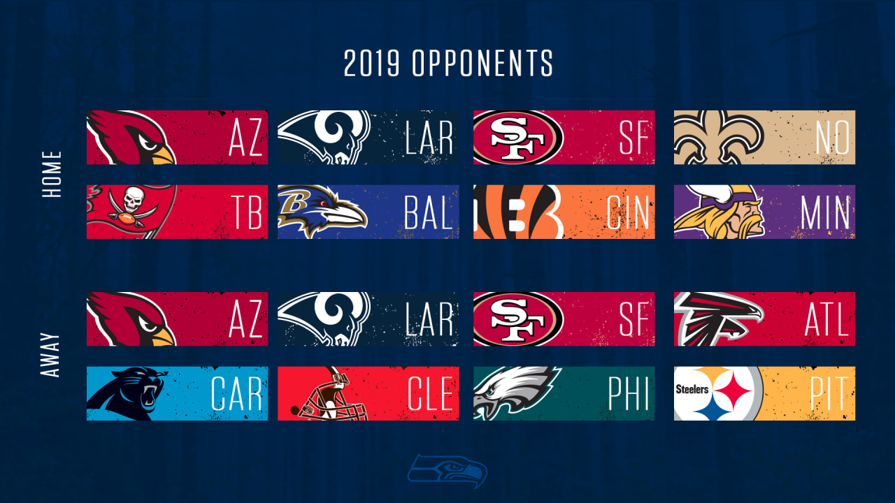 Nfl Schedule Seahawks 2019 Opponents Set