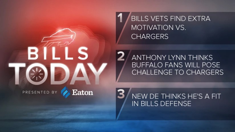 Bills Today Bills vets find extra motivation vs Chargers