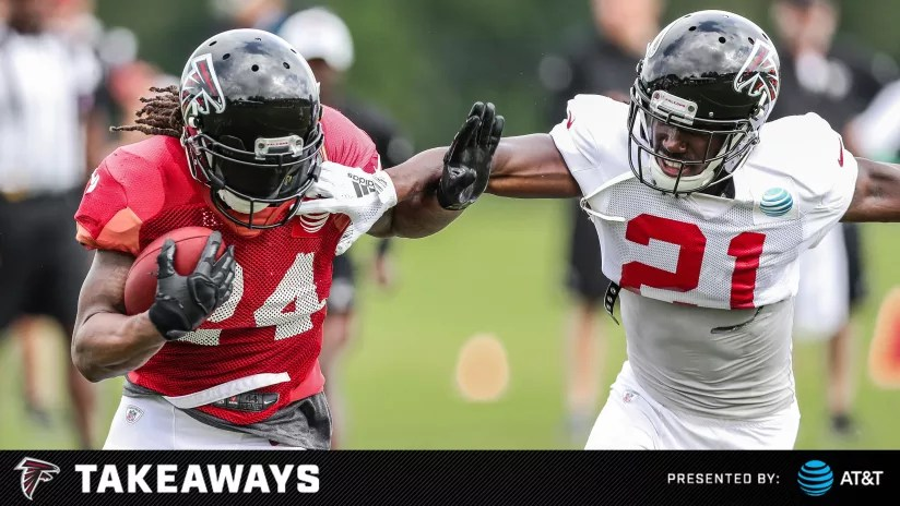 Falcons camp observations Competition thrives on a red-zone-heavy