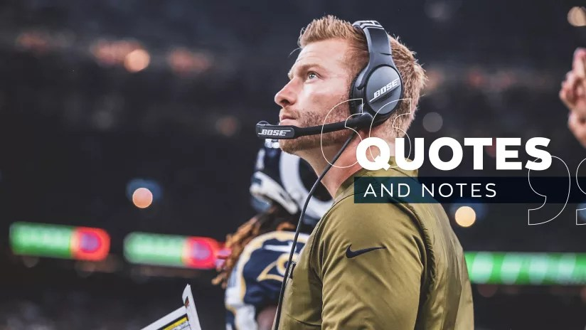 Quotes  Notes 11/5/18 McVay Commends Peters for Accountability