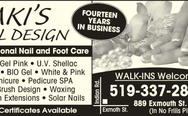 Aki S Nail Design Opening Hours 13 889 Exmouth St Sarnia On