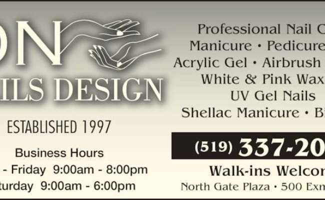 Dn Nails Design Opening Hours 500 Exmouth St Sarnia On