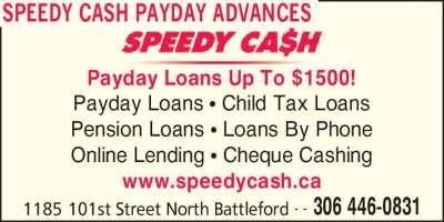 Speedy Cash Payroll Advances - North Battleford, SK - 1185 101st St | Canpages
