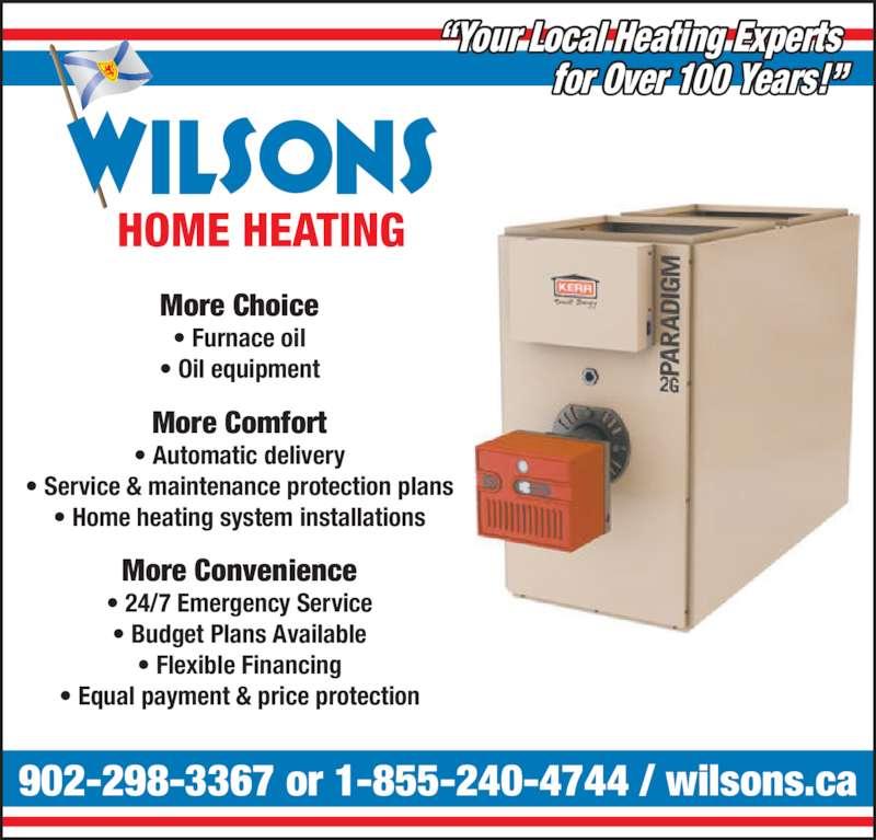 Wilsons Home Heating Opening Hours 2984 Highway 325