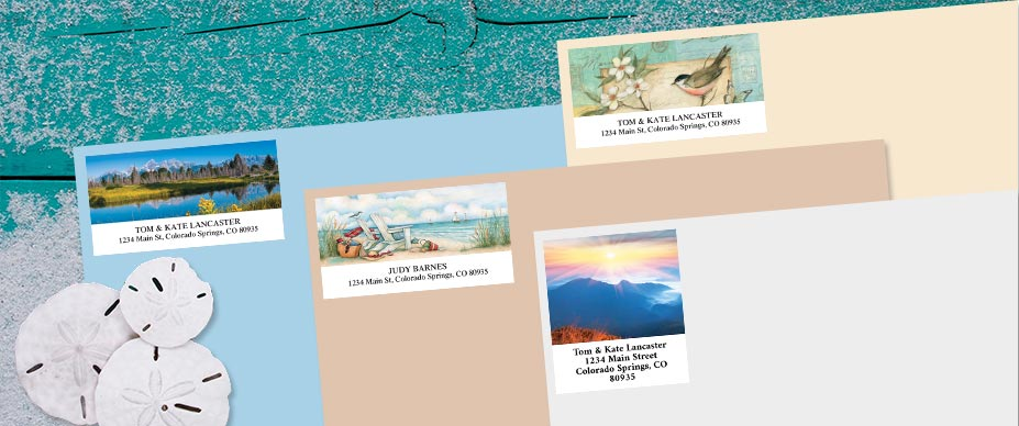 Beautiful Address Labels By Design Colorful Images