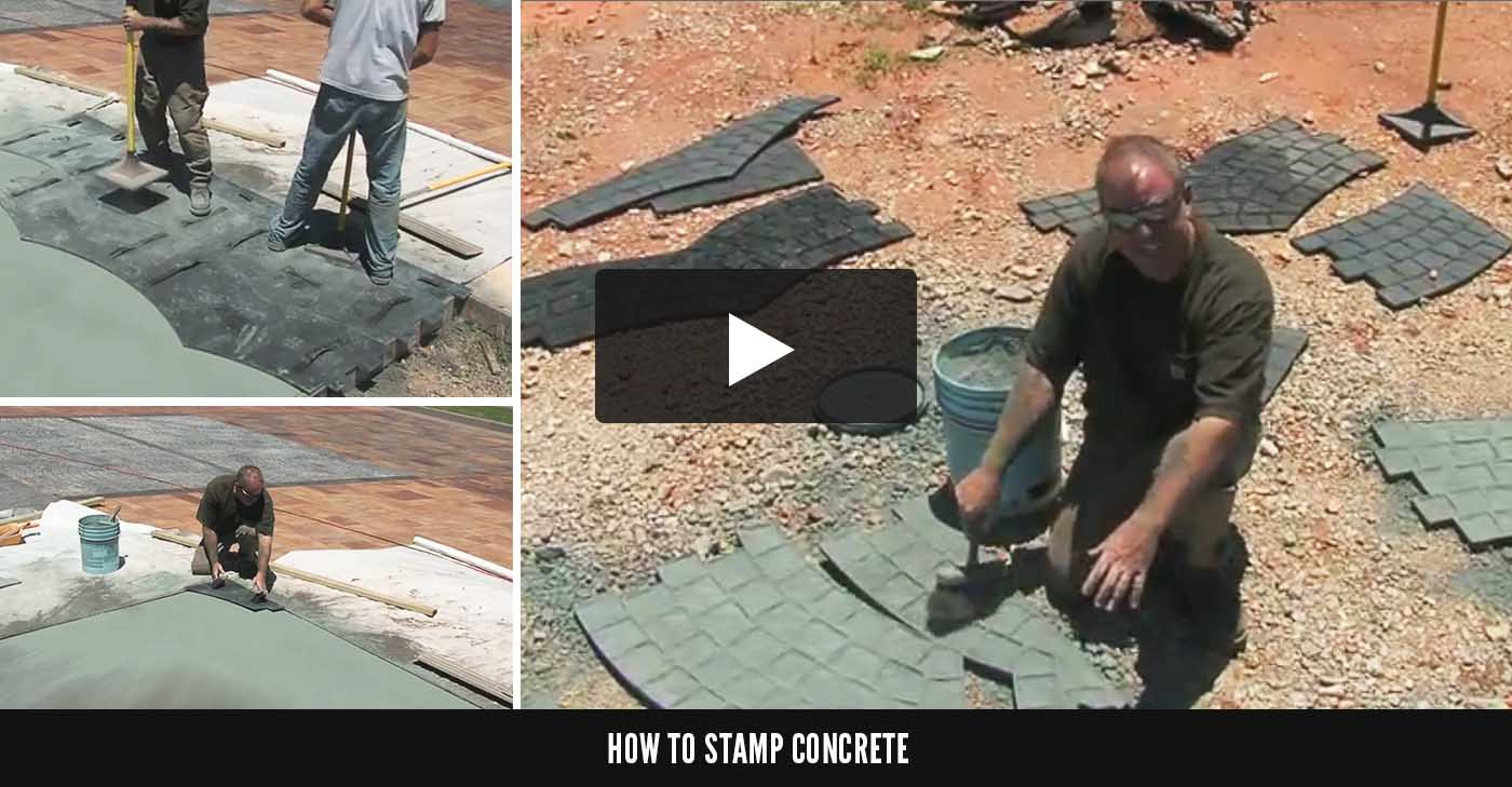 Concrete Stamps Stamp Mats Tools The Concrete Network