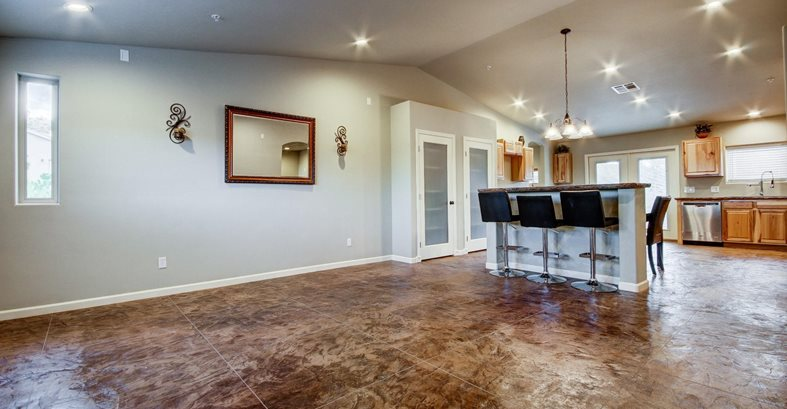 Stamped Concrete Flooring Indoors The Concrete Network