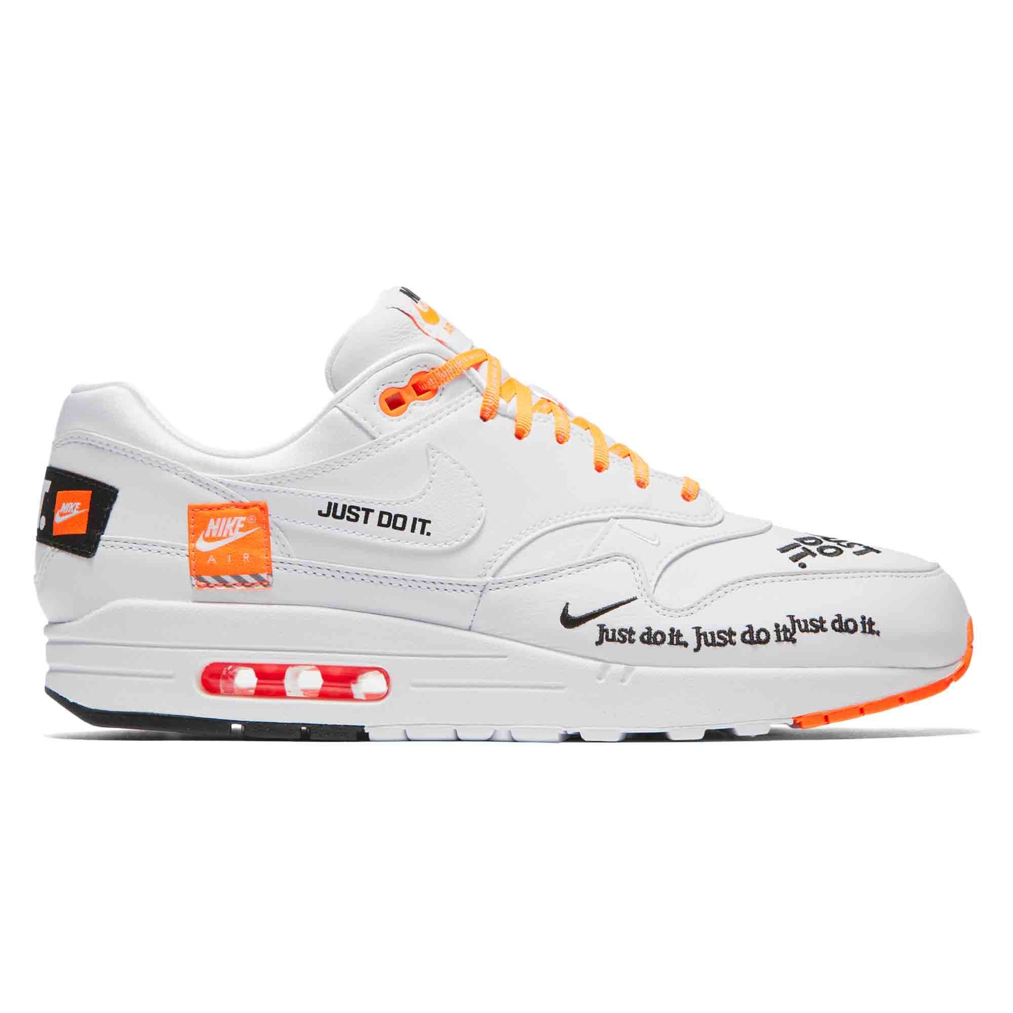 Nike Do Nike Air Max 1 Se Just Do It White White Total Orange