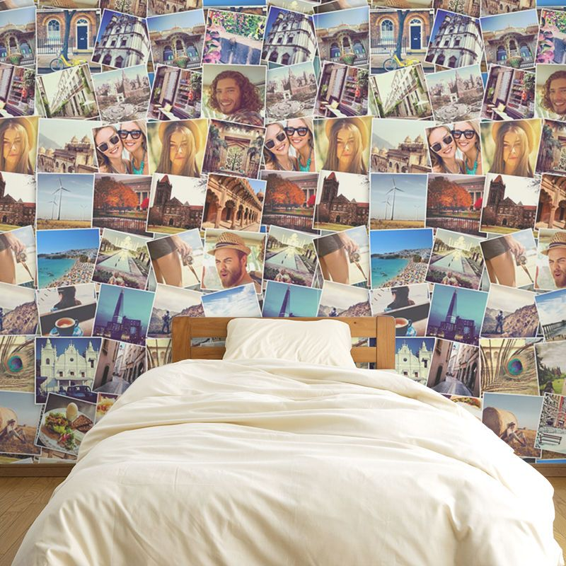 Fototapete Selber Gestalten Photo Collage Wallpaper: Make A Feature Wall With Your Photos