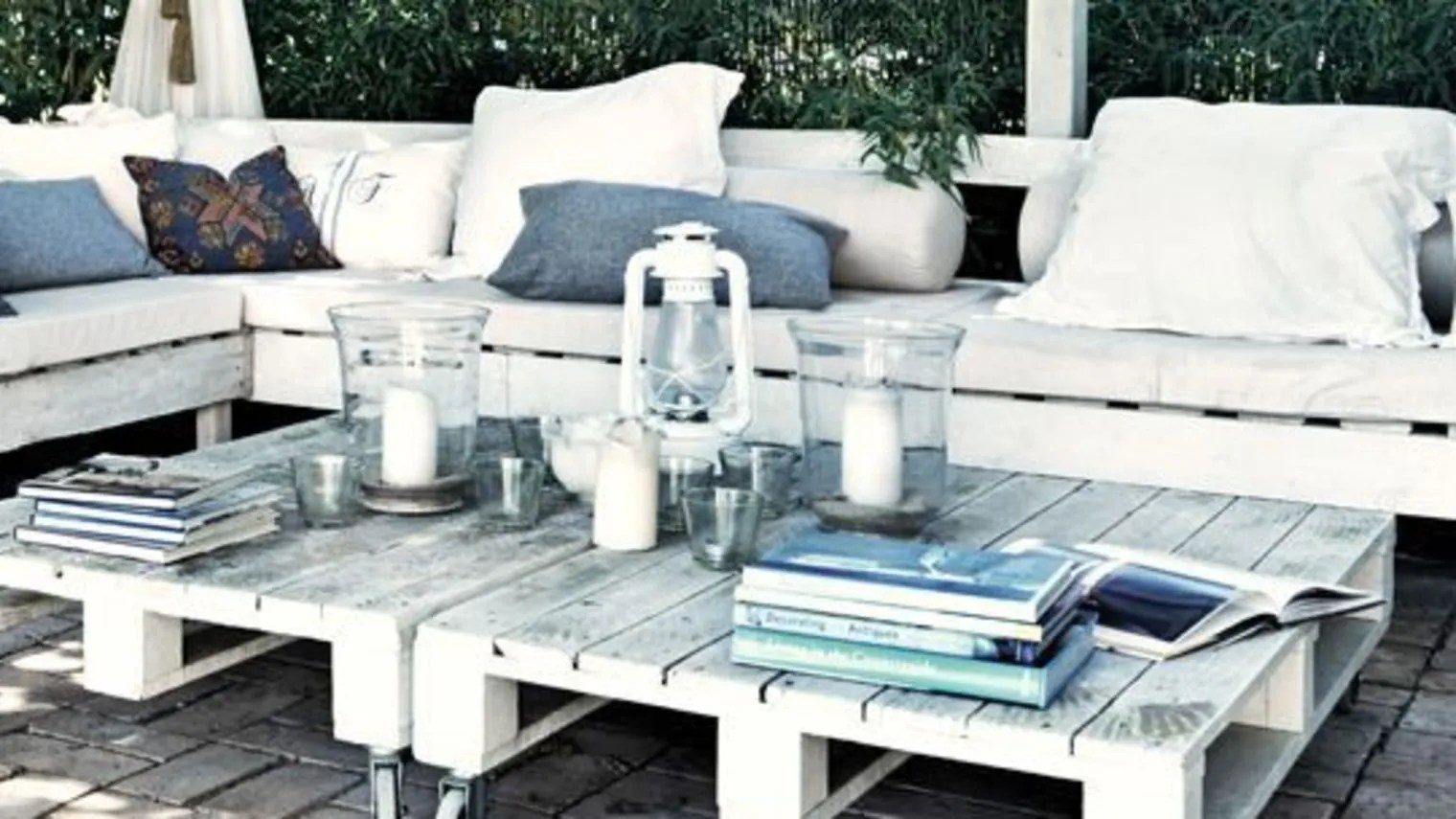 Palette Bois Deco Jardin | Magnifique Terrasse Palette Fabriquer ...