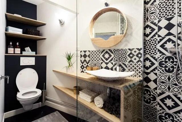 Rangement salle de bain bien pensé par les pro - Côté Maison - Meuble Avec Miroir Pour Salle De Bain