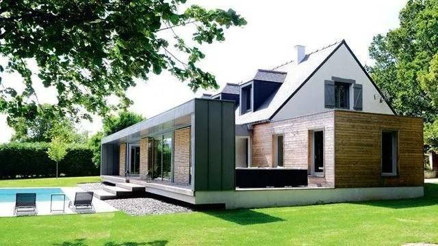 130 Extension Maison Zinc Prix - r alisations archives extenbois l - Agrandissement Maison Bois Prix M