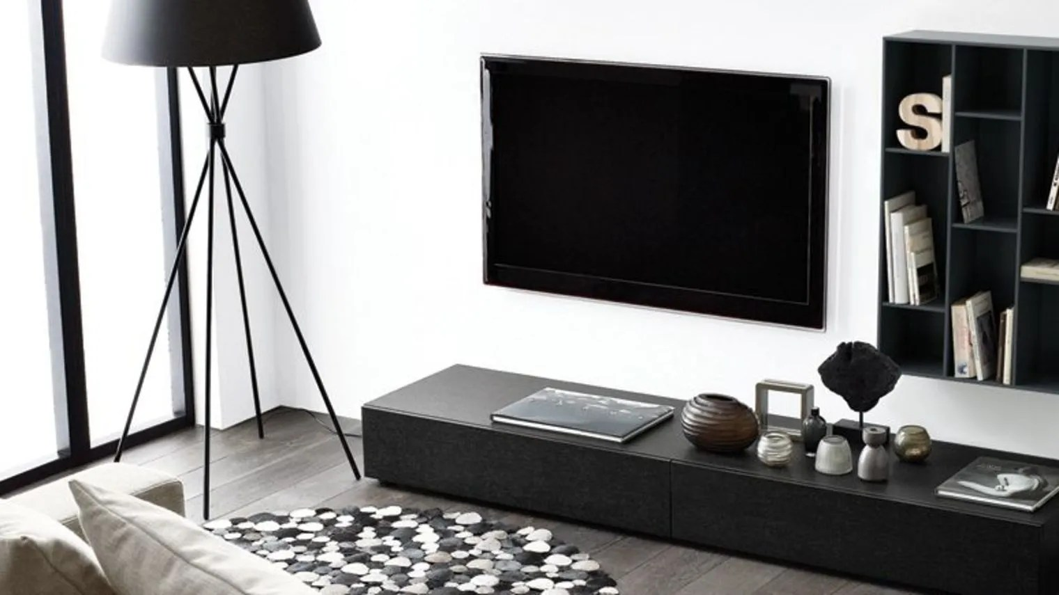 Tv Encastrable Mur Meuble Suspendu Boconcept