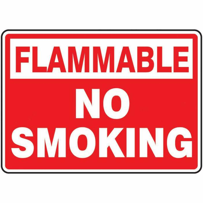 Safety Sign Flammable No Smoking 7 X 10 Aluminum from Davis Instruments