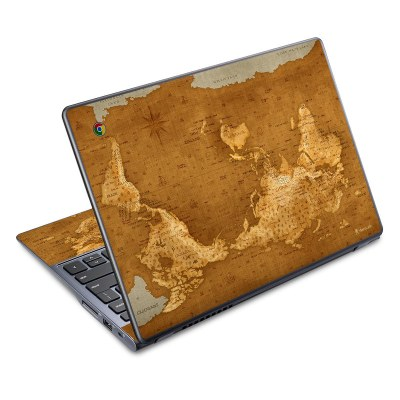 Acer Chromebook C720 Skin - Upside Down Map by Vlad Studio | DecalGirl