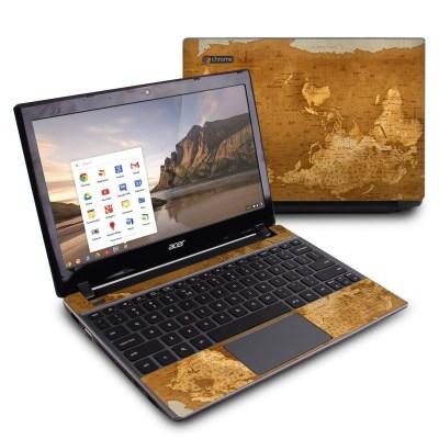 Acer Chromebook C7 Skin - Upside Down Map by Vlad Studio | DecalGirl