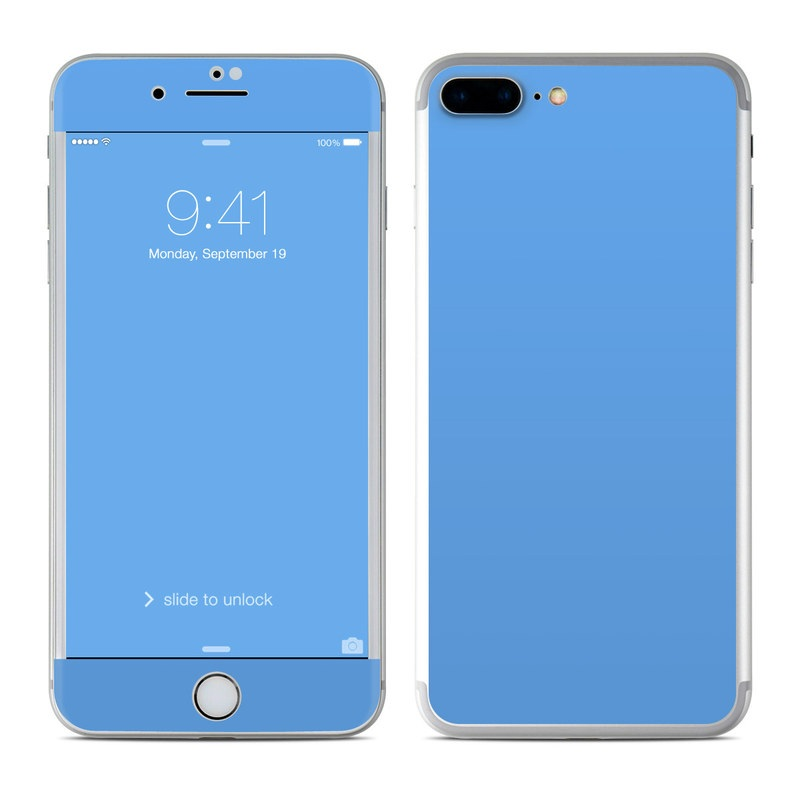 Marble Wallpaper Iphone 7 Plus Apple Iphone 8 Plus Skin Solid State Blue By Solid