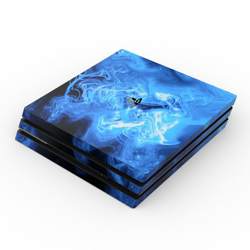 Galaxy Marble Sony Ps4 Pro Skin - Blue Quantum Waves By Gaming | Decalgirl