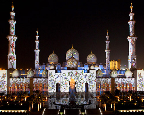 Deco Wallpaper 3d Obscura Digital Sheikh Zayed Grand Mosque Projections