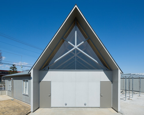 gabled facility for ecology education completed in saitama