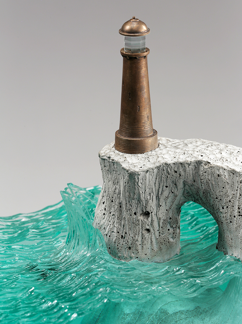 Ben Young Sculptures Ben Young Turns The Ocean Abyss Into Glass And Concrete Landscapes