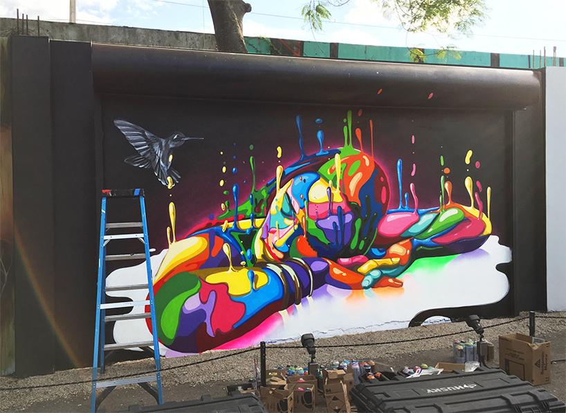 dasic fernández\u0027s \u0027inverse drip\u0027 art at miami\u0027s wynwood walls