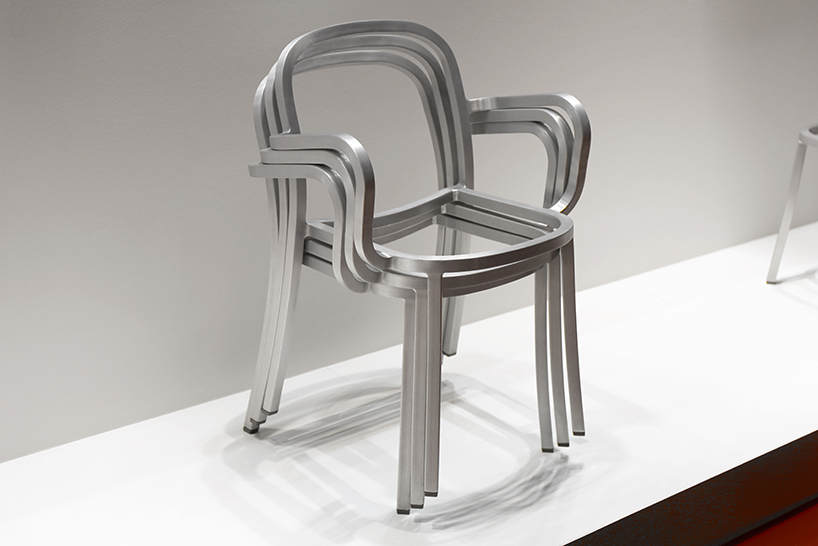 Chair One Grcic Jasper Morrison Extrudes Square Aluminum Tubes For Emeco's
