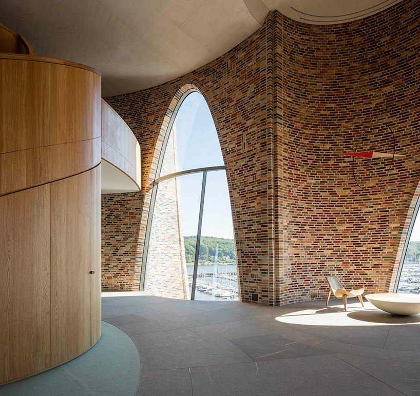 Aalto Vase Olafur Eliasson's First Building Is A Curved Brick, Semi