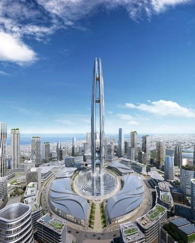 ruler of dubai's fingerprint will form base of the UAE's second tallest tower