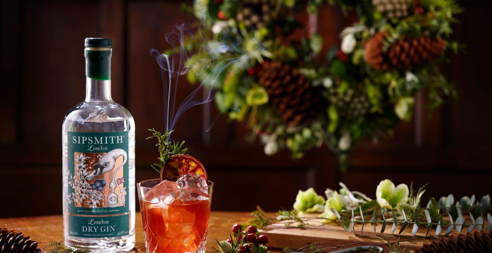 Gin Cocktails Botanical Wreathmaking Festive Sipsmith Gin Cocktails London
