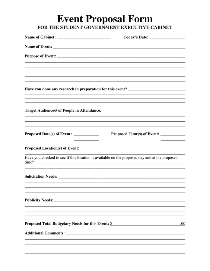 Sample Proposal Letter 13 Free Documents In Pdf Word Event Proposal Form In Word And Pdf Formats