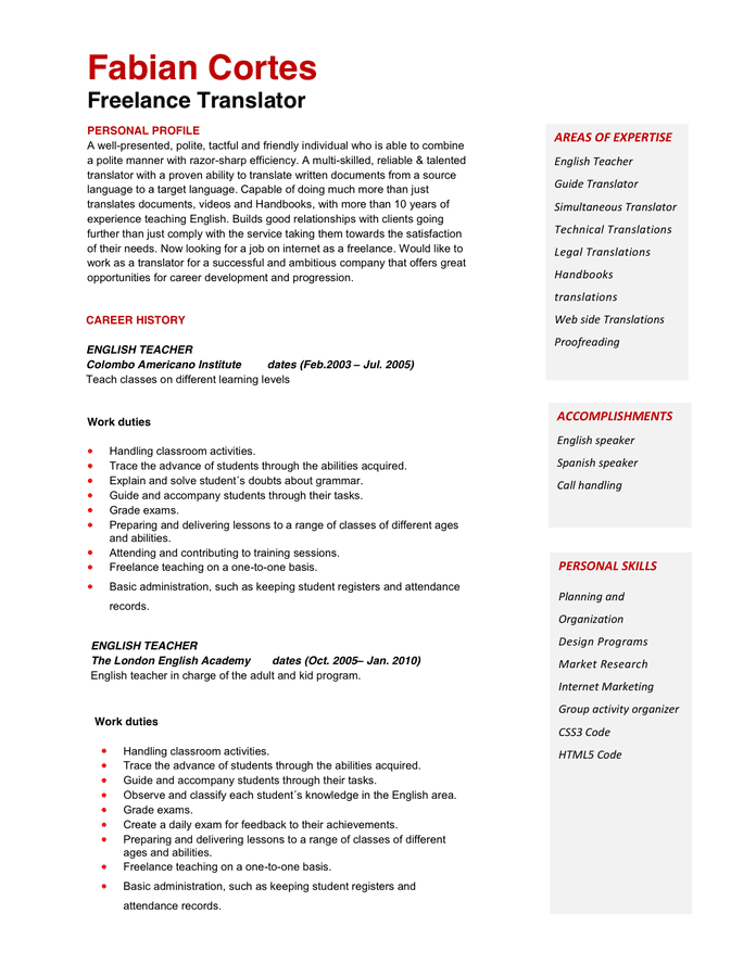 Download 35 Free Creative Resume Cv Templates Xdesigns Doc500708 Teacher Cv Format – Teacher Cv Template