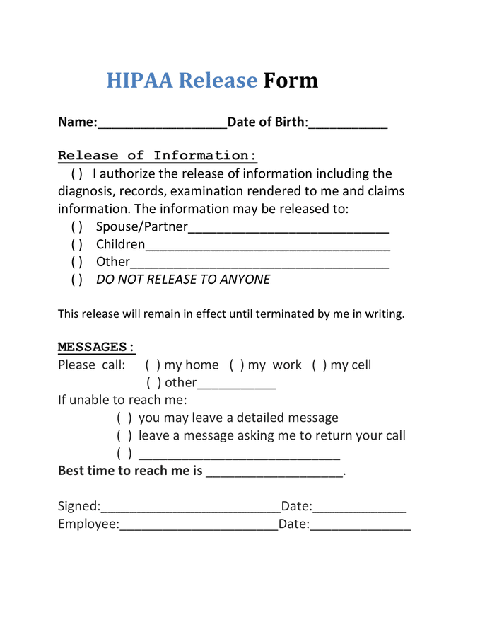 Sample Hipaa Confidentiality Agreement Form | Best Resumes ...