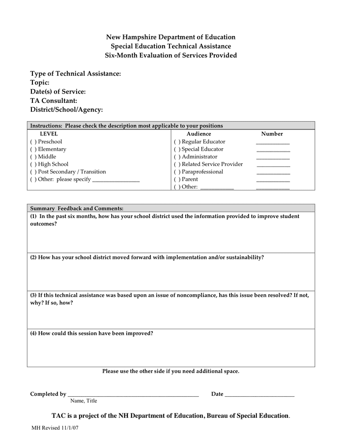 100+ [ 8 Leadership Evaluation Form ] | Part 4 Staffing Activities ...
