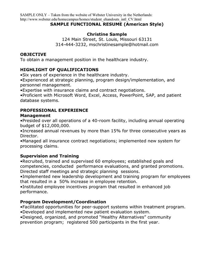 functional resume styles free resume samples writing