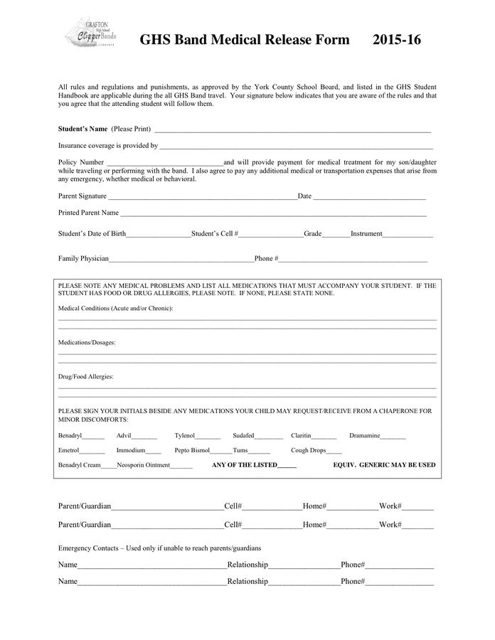 Medical Release Form Ny | Job Description Sample Office Assistant