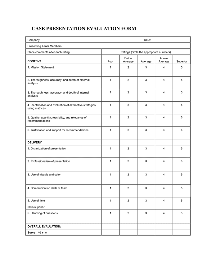 Interview Assessment Form Doc