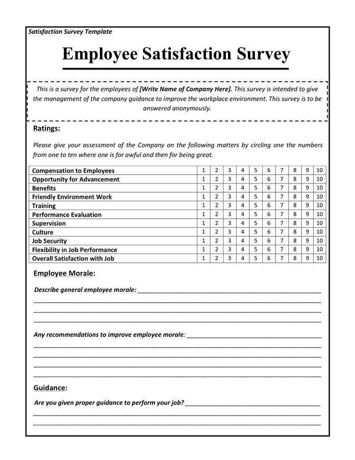 employee benefits satisfaction survey questions
