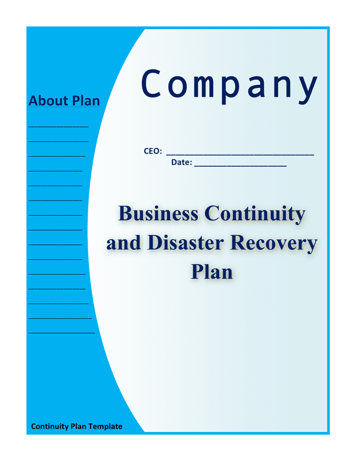 Business Continuity Plan Template For Finraorg Business Continuity Plan Example For Small Business