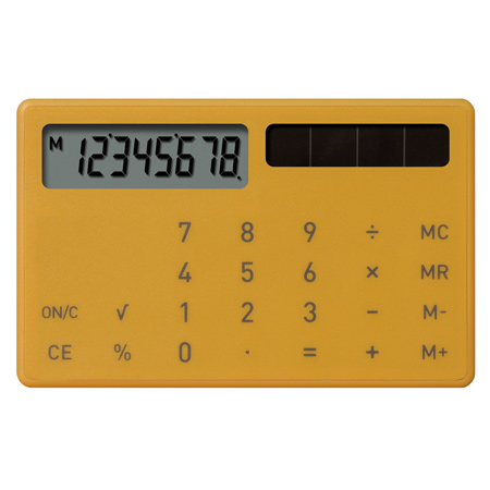 Electronic Calculator XS by plusminuszero Dezeen