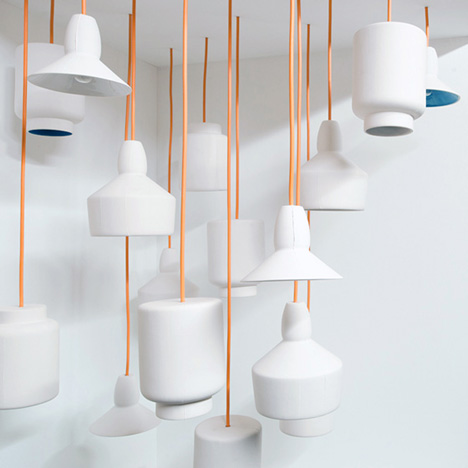 Room 9 Ceramic Pendant lights by James Tattersall